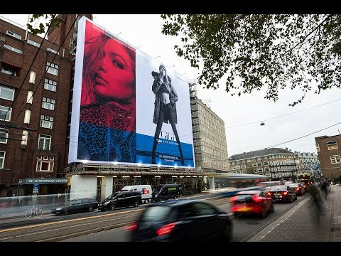 blowUP media: Tommy x Gigi, Amsterdam | Tommy Hilfiger's Giant Poster campaign with Gigi Hadid