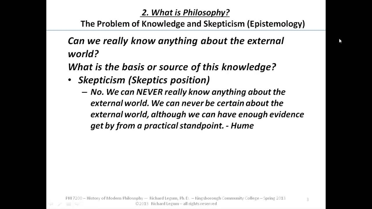 The problem of knowledge in philosophy: the main aspects in their cultural and historical development 73