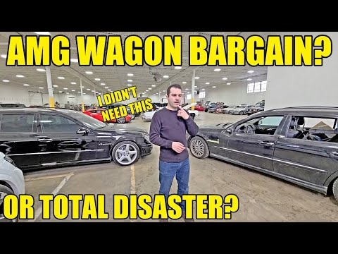 I Bought An E55 AMG Wagon For $7,000 SIGHT UNSEEN For A Quick Flip But Here's What Showed Up.