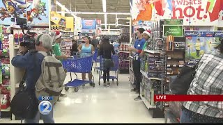 Doors open for waiting customers as Thanksgiving, Black Friday shopping frenzy begins