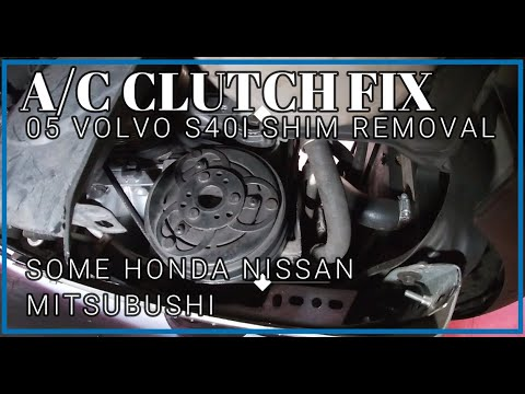 AC Clutch Fix 05 Volvo S40I How to Repair Without Pulling Compressor Easy Fix by Removing Shims DIY