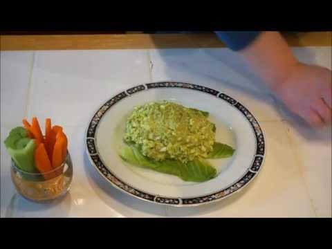 Салат из авокадо с яйцом_  Avocado spread with eggs