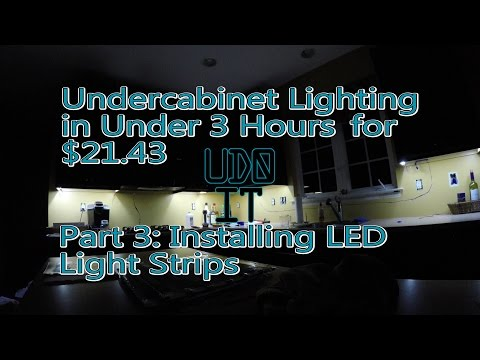 Install Under Cabinet Lighting Part 3: Completing the Installation and Reveal