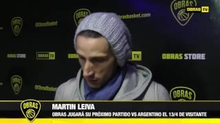 Martín Leiva Post Obras Basket 65-81 San Lorenzo