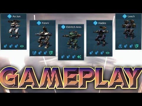 War Robots Fenrir Eldritch Ares Hades Leech Kid Deathmatch Mode Gameplay