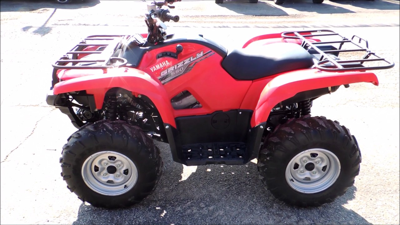 2014 yamaha grizzly 550 efi red youtube. Black Bedroom Furniture Sets. Home Design Ideas