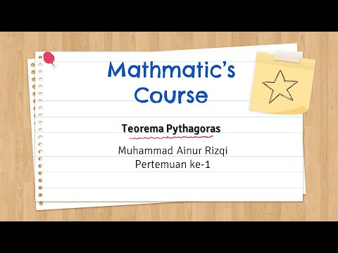Pertemuan Pertama Materi Teorema Pythagoras Youtube
