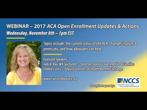 NCCS Webinar: 2017 ACA Open Enrollment Updates and Actions