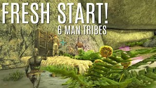 STARTING FRESH and Finding A Location - 6 Man Tribe Official (E1) - ARK Survival