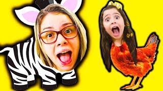 Heloísa e Mamãe se transformam em animais em uma historia engraçada para criança