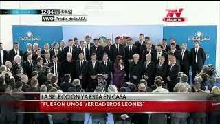 Cristina Fernández de Kirchner recibe a la selección argentina de fútbol