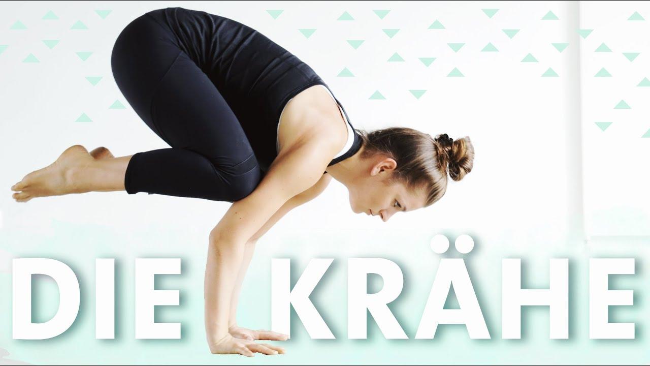 Yoga Krähe Crow Pose lernen für Anfänger in einfachen Schritten ...