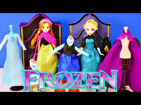 Thumbnail: FROZEN Official Disney Store Dolls Elsa and Anna Wardrobe Playset Furniture Outfits Shoes Clothing