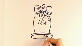 How to Draw a Cartoon Christmas Bell