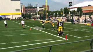 Green Bay Packers Linebacker Drills- (2011) Training Camp