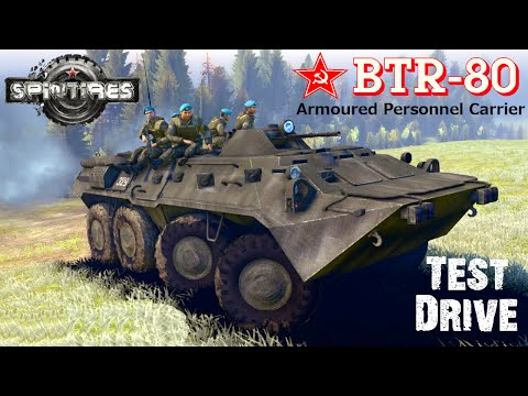 SPIN TIRES Test Drive mod armored personnel carrier BTR 80