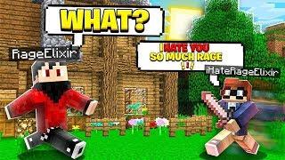 I Found a RAGEELIXIR HATER on My Minecraft World..