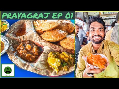 Zaikedar Desi Breakfast in Allahabad with Veggiepaaji | Prayagraj EP 01
