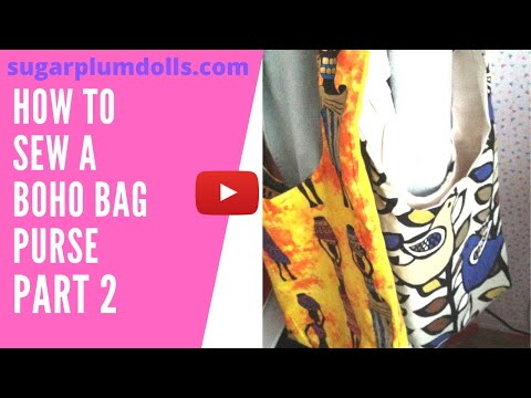 Boho bag pattern print and cut