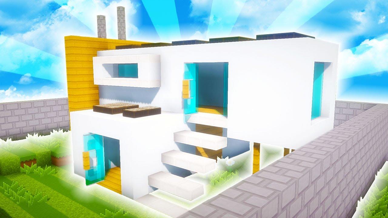 Minecraft casa moderna con oficina ecol gica tutorial for Casa moderna oficina