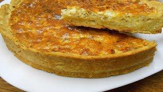 Открытый творожно- сырный пирог.Как же это вкусно!