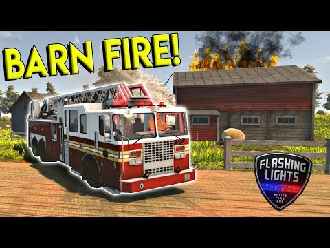 BARN FIRE RESCUE & NEW UPDATE! - Flashing Lights Gameplay - Police & Firefighter Simulator