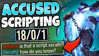 #1 XERATH WORLD ABUSES ENEMY ZOE AND THEY THINK IT'S SCRIPTS! - League of Legends