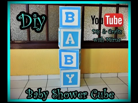 Diy  How to make a cube for baby shower  Diy & Crafts with Mirna
