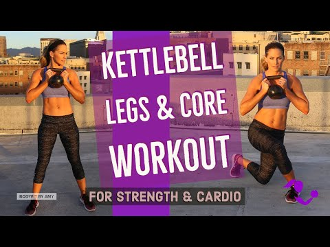 32 Minute Kettlebell Legs and Core Workout: Strengthen & Tone Lower Body and Abs