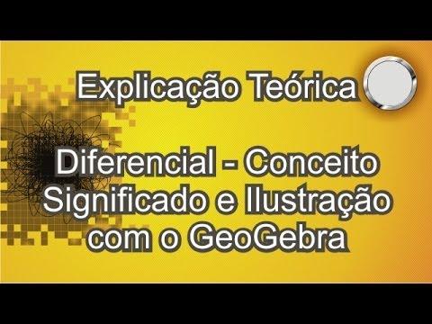 Diferencial - Conceito, significado e Ilustração com o GeoGebra