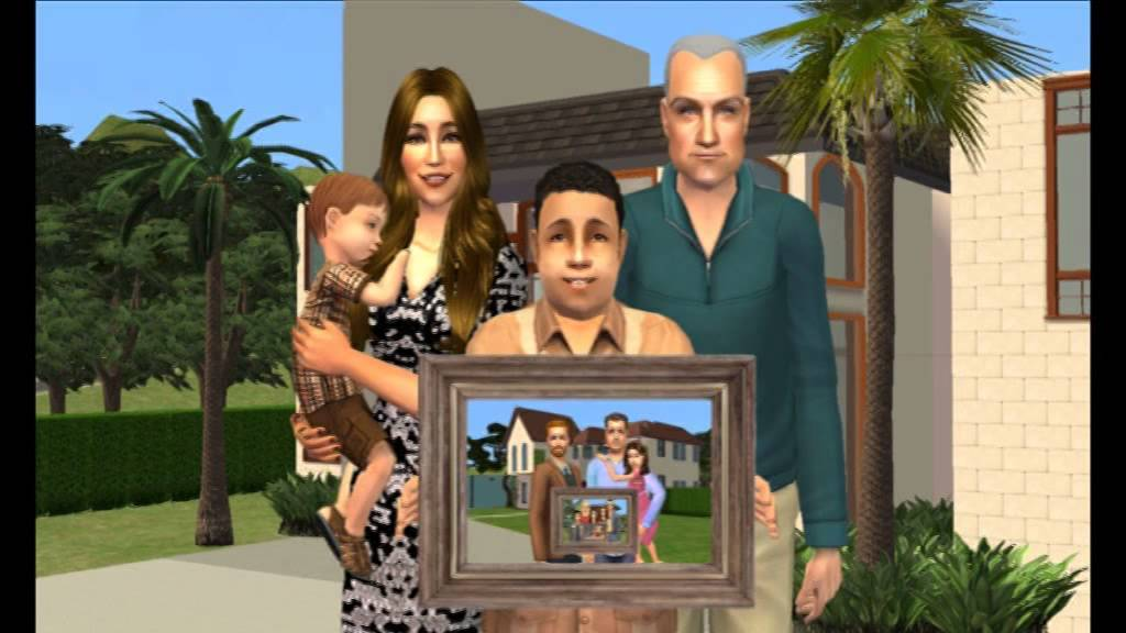 Modern family intro sims version youtube for Modern family house 90210