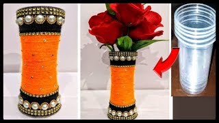 Gambar cover DIY | Flower Pot out of Disposable Plastic Glass/Best Out Of Waste Idea