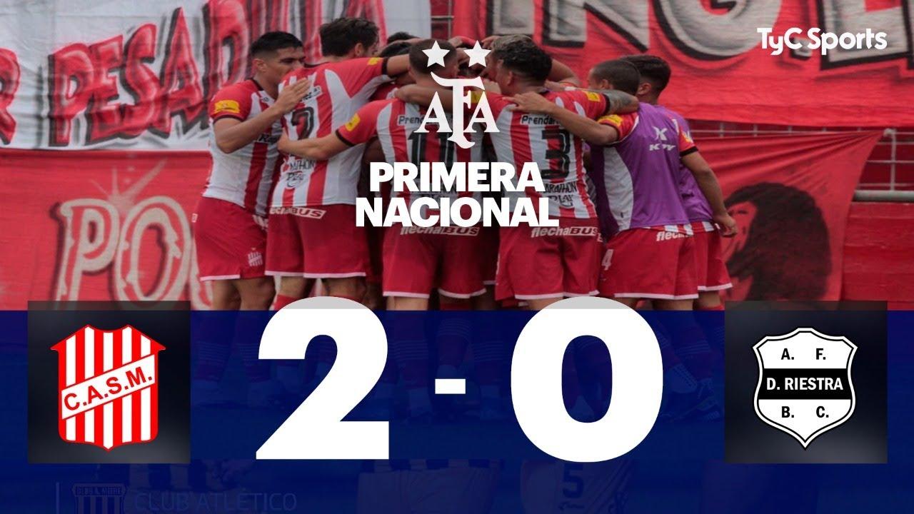 San Martín (T) 2-0 Deportivo Riestra I Primera Nacional