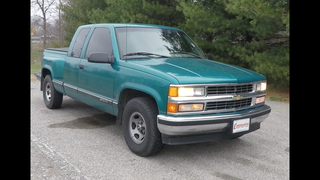 1996 chevrolet c1500 silverado extended cab sportside 4x2 p10784a youtube. Black Bedroom Furniture Sets. Home Design Ideas