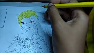 Yolandha Mewarnai Elsa.Bagus Banget