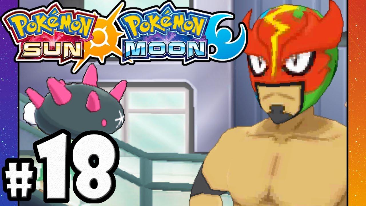Pokemon Sun and Moon - 3DS Gameplay Walkthrough PART 18 - Battle Royal  Avenue - Route 7 - Pyukumuku