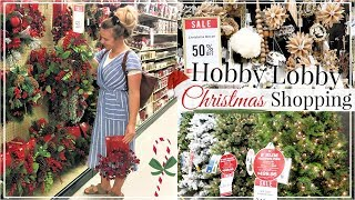 SHOP WITH ME HOBBY LOBBY CHRISTMAS 2018 | CHRISTMAS DECOR HOME DECORATIONS SHOPPING