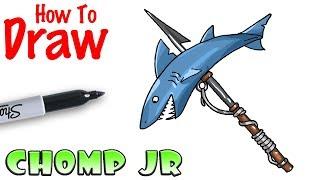 How to Draw Chomp Jr. | Fortnite