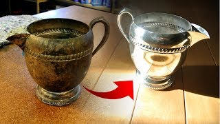 $1 silver pot restore. Lots of polishing.