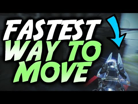 FASTEST WAY TO MOVE IN DESTINY 2 [Crazy Sparrow Trick]