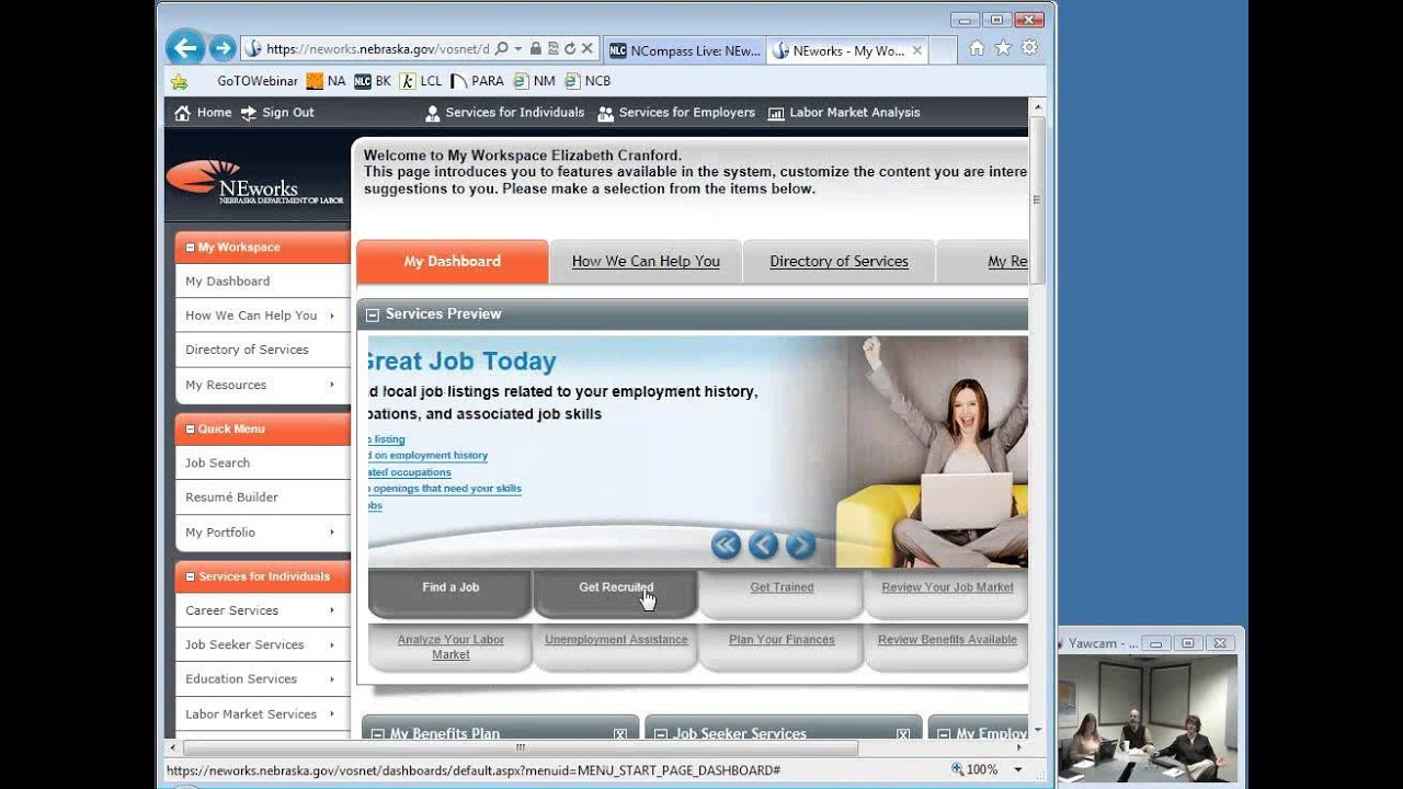 Ncompass Live Neworks Unemployment Insurance Job Searching Youtube