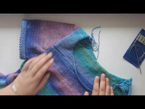 вязание спицами имитация втачного рукава видео