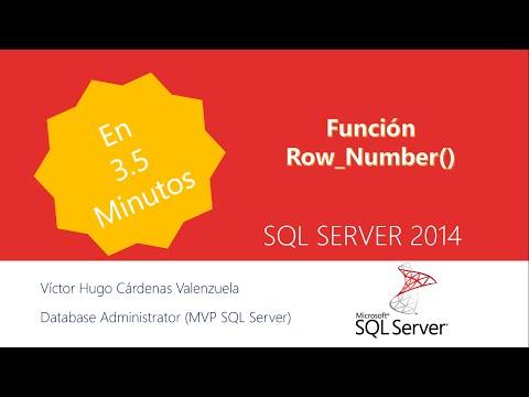 Row_Number() en SQL Server
