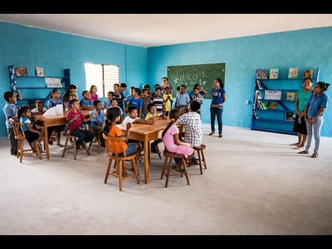 The National Anthem of Belize sung by the children in Santa Elena.