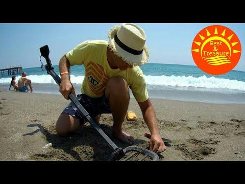 С металлоискателем go find в турции. пляжный коп. - видео на.