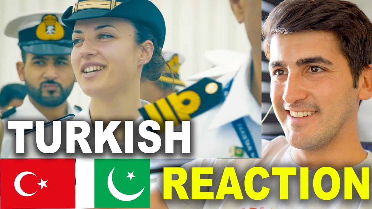 TURKISH REACTION ON PAKISTANI ARMY SONG (Pakistan Navy National Song)