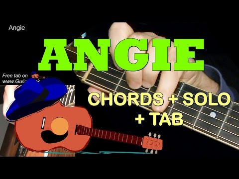 ANGIE By The Rolling Stones: Chords + Solo + TAB! Guitar Cover By GuitarNick