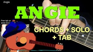 Video ANGIE by The Rolling Stones: Chords + Solo + TAB! Guitar Cover by GuitarNick download MP3, 3GP, MP4, WEBM, AVI, FLV Mei 2018