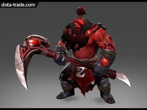 dota 2 axe red mist reaper rare set review youtube