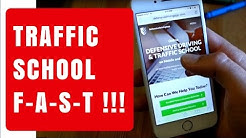 Fast way to complete online Traffic School/Defensive Driving Course